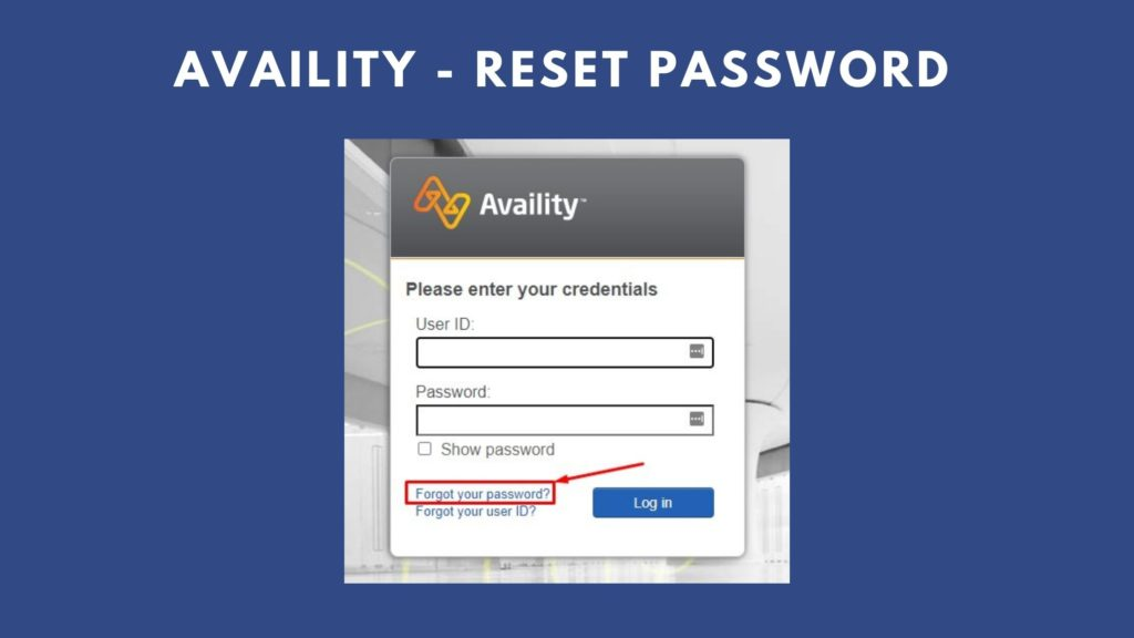 availity reset password