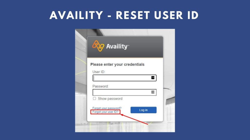 availity reset user id