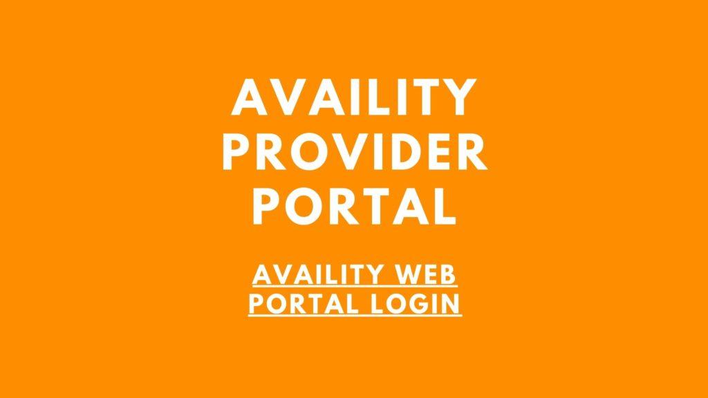 availity web portal